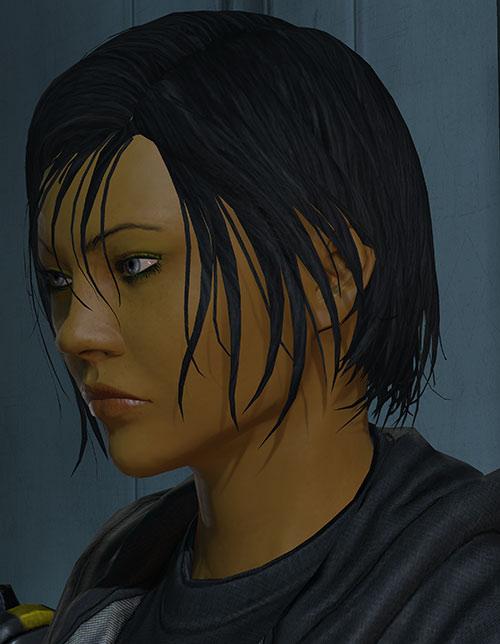 Commander Shepard (Mass Effect 3) face side hostile