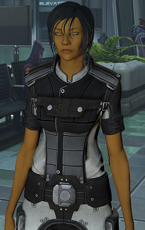 Commander Shepard (Mass Effect 3) gray fight suit