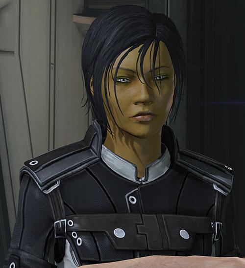 Commander Shepard (Mass Effect 3) exhausted