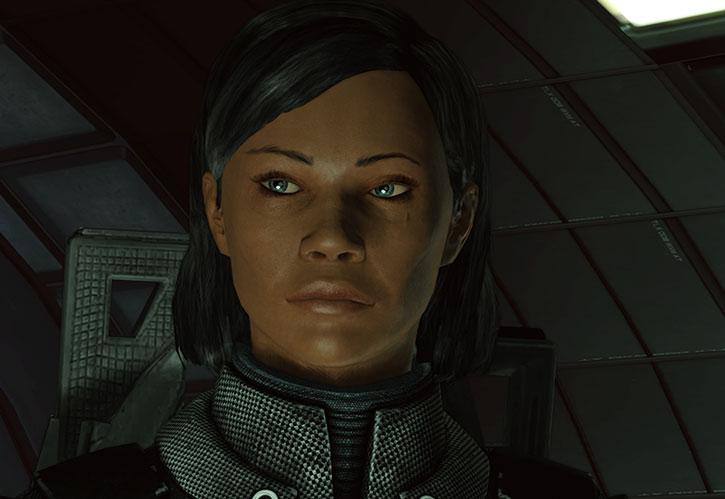 Commander Shepard being serene