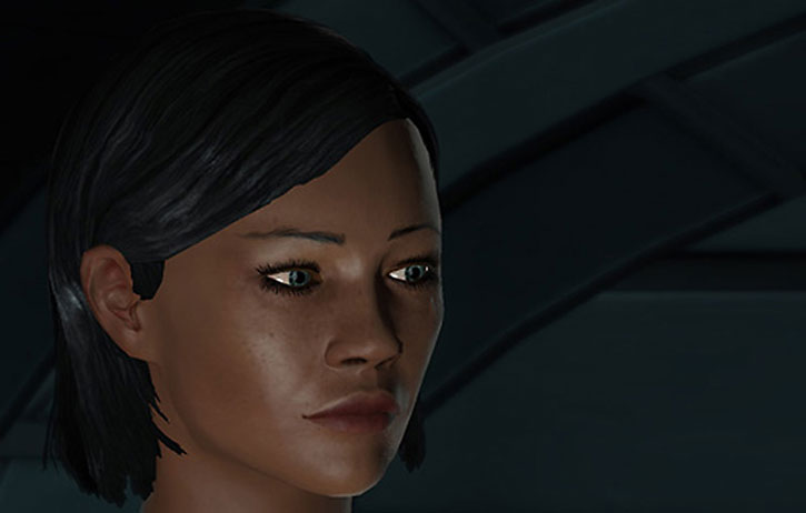 Commander Shepard being pensive