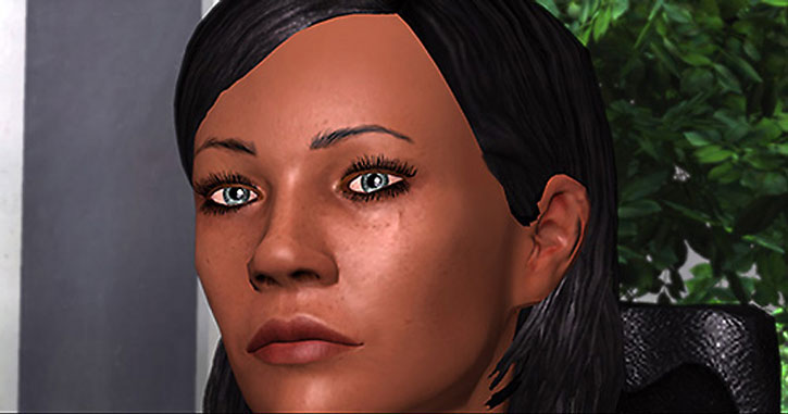 Commander Shepard got killer eyes
