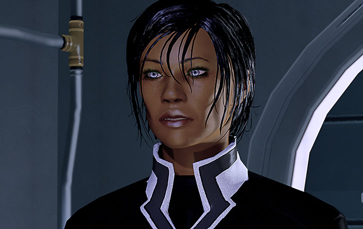 Commander Shepard uses too much lip gloss but she doesn't care