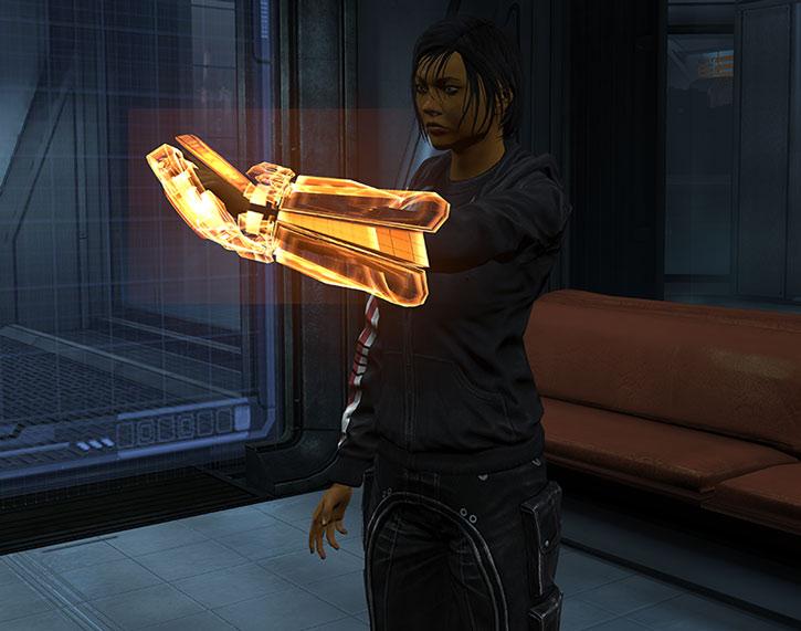 Commander Shepard does an omni-tool scan