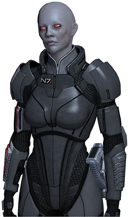 Commander Shepard (Mass Effect 2) (Mandala) (zombie) in N7 gray armor