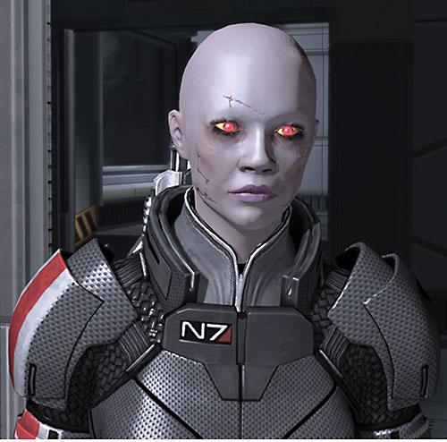 Commander Shepard (Mass Effect 2) (Mandala) (zombie) looking dizzy