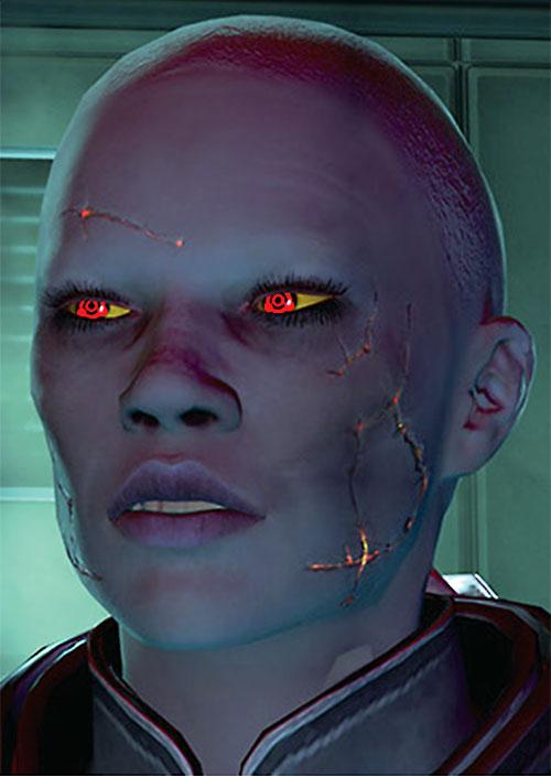 Commander Shepard (Mass Effect 2) (Mandala) (zombie) sneering face