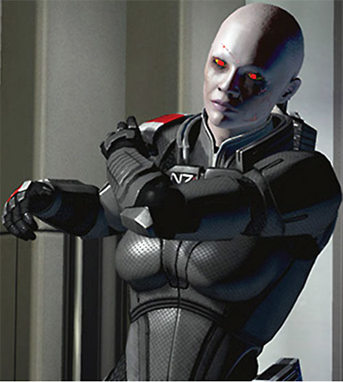 Commander Shepard (Mass Effect 2) (Mandala) (zombie) shoulder hurting