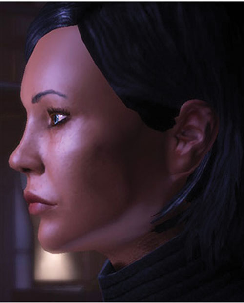 Commander Shepard (Mass Effect 1) (Mandala) face closeup side view
