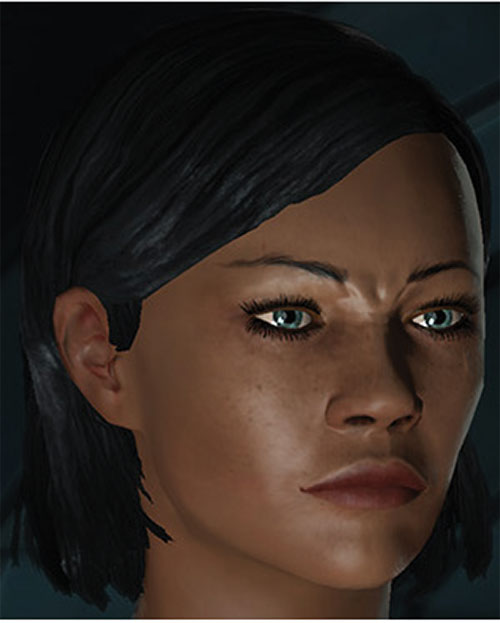 Commander Shepard (Mass Effect 1) (Mandala) frown face closeup