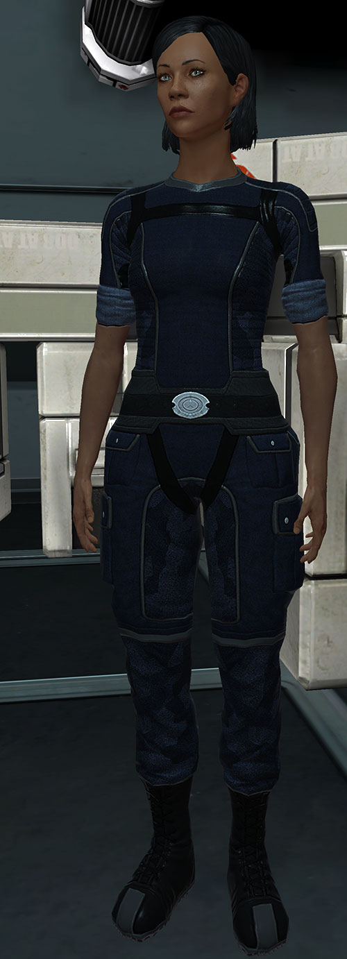 Commander Shepard (Mass Effect 1) (Mandala) blue flight uniform