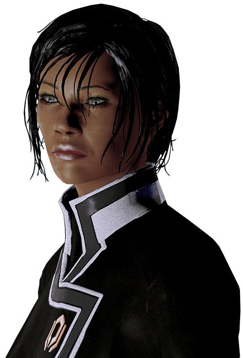 Commander Shepard (Mass Effect 2 late) portrait dramatic lighting