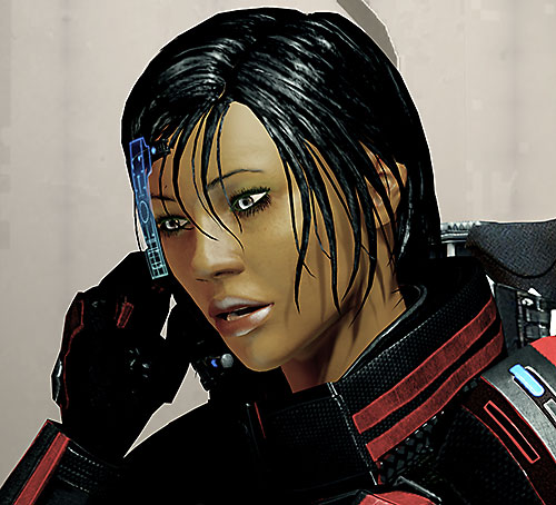 Commander Shepard (Mass Effect 2 late) on the radio