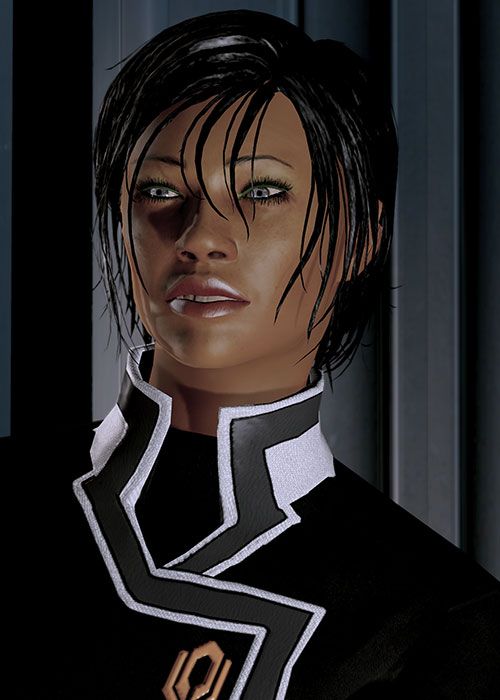 Commander Shepard (Mass Effect 2 late) being charismatic and nice