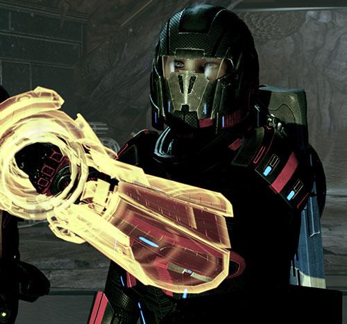 Commander Shepard (Mass Effect 2 late) full Kestrel hardsuit and omni-tool up