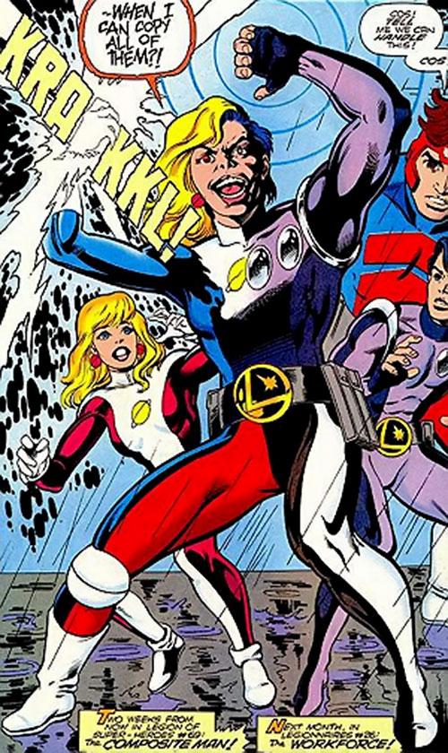 Composite Man (Rebooted version) (DC Comics) vs. the LSH