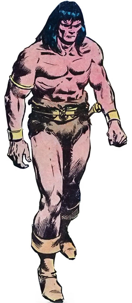 Conan the Barbarian (Marvel Comics version) looking grim