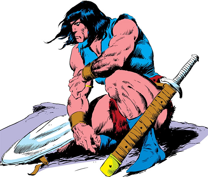 Conan drawing from the Marvel Handbook