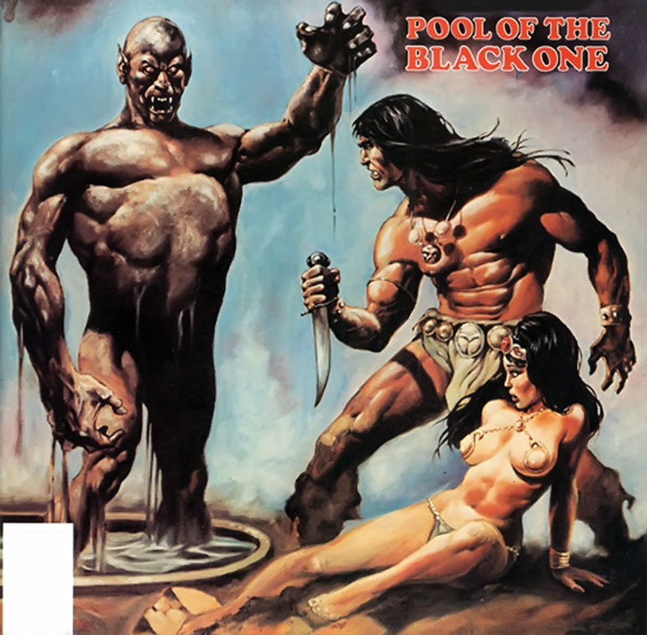 Conan cover for the Pool of the Black One story