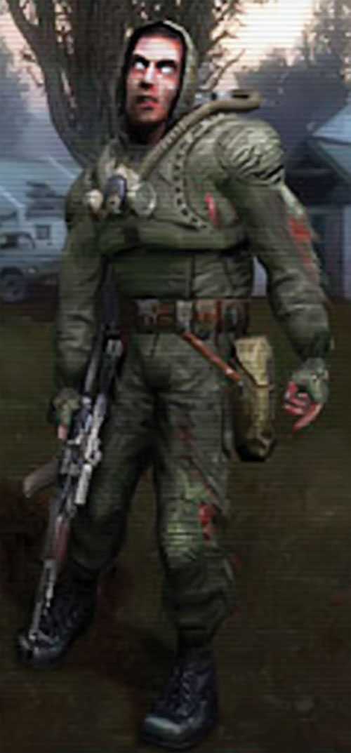 Mind controlled zombie in the STALKER video game