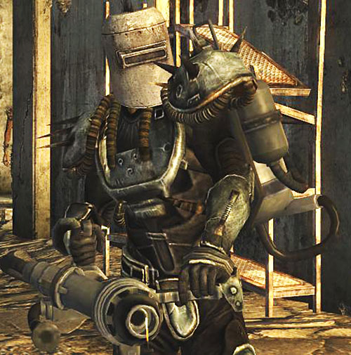 Cook-Cook (Fallout: New Vegas) full armor and large flamethrower