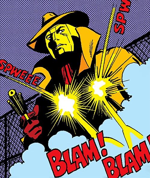 Copperhead (Chesney) (Daredevil enemy) (Marvel Comics) ignores gunfire