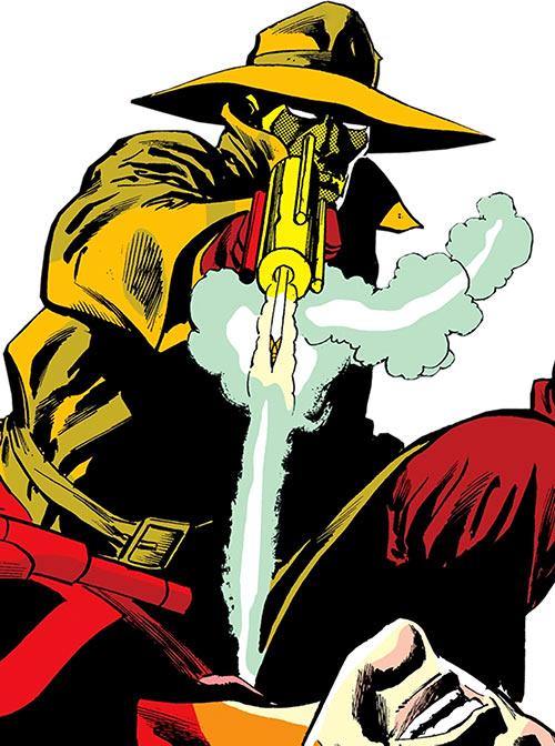 Copperhead (Chesney) (Daredevil enemy) (Marvel Comics) shooting his needler