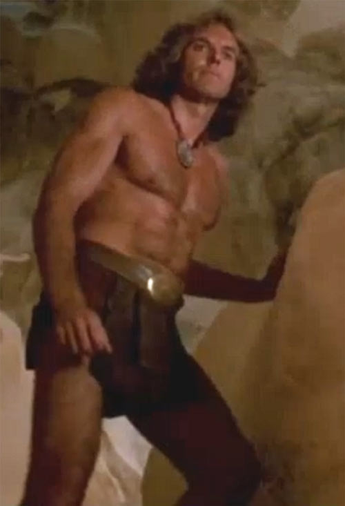 Cord (Jeff Cooper in the The Iron Circle movie) looking all muscular