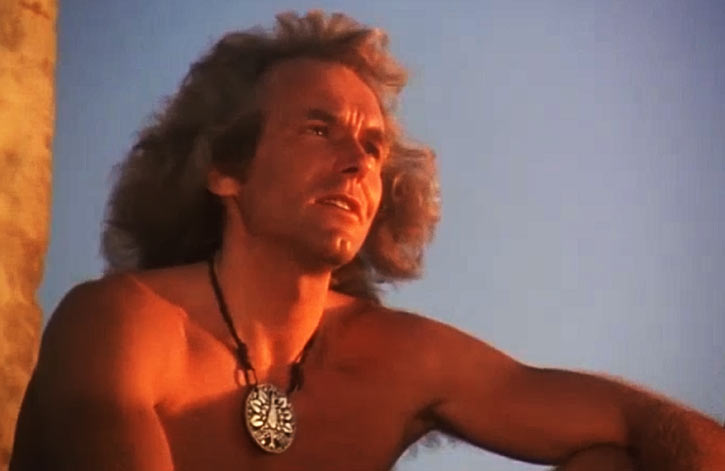 Cord (Jeff Cooper in the The Iron Circle movie) in the setting sun light