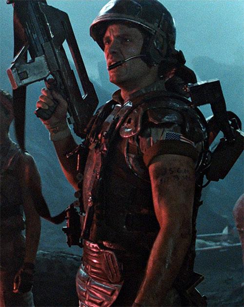 Corporal Hicks (Michael Biehns in Aliens) in uniform