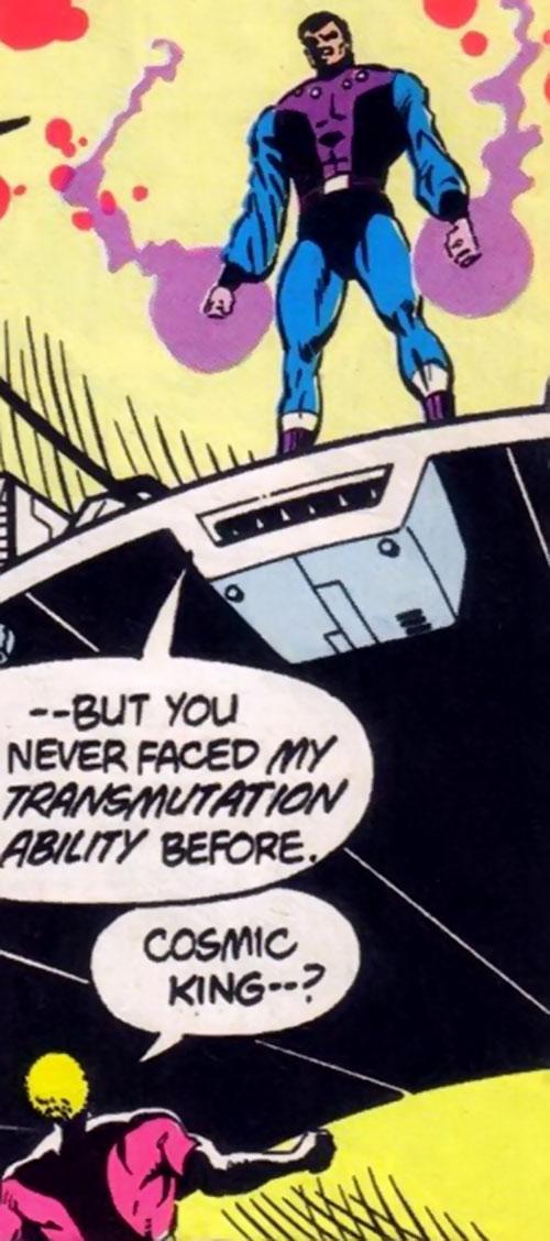 Cosmic King of the Legion of Super-Villains (DC Comics) vs. Element Lad