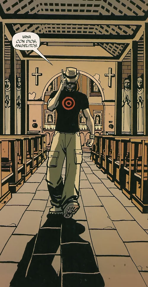 Cougar of the Losers (DC Comics) in a church