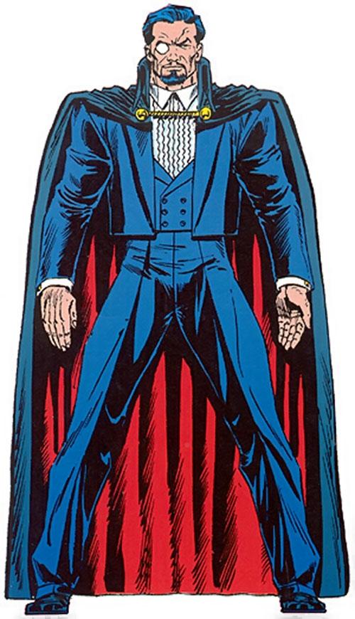 Count Nefaria in a tuxedo and cape