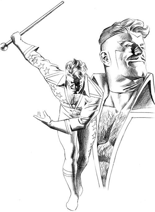 Crackerjack (Astro City comics) pencil art
