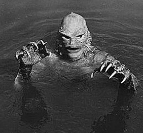 The Creature from the Black Lagoon in water
