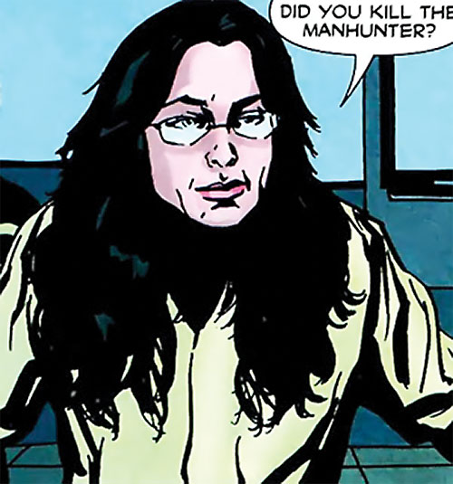 Crime Doctor (Anica Balcescu) (Manhunter enemy) (DC Comics) with her glasses