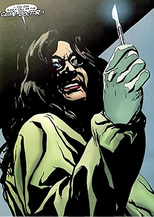 Crime Doctor (Anica Balcescu) (Manhunter enemy) (DC Comics)
