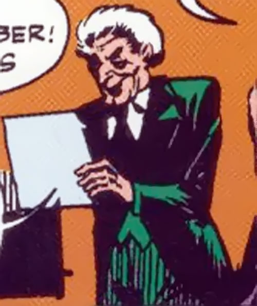 Crime Doctor (Batman enemy) (DC Comics Golden Age) in a green suit