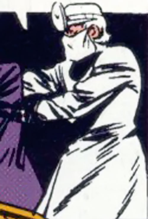 Crime Doctor (Batman enemy) (DC Comics Golden Age) in white scrubs