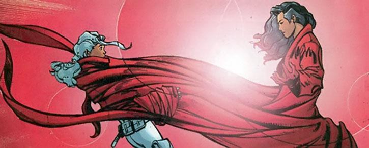 Crimson Cowl (Justine Hammer) vs. Silver Sable