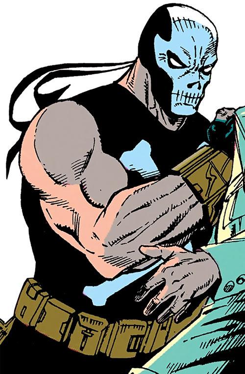 Crossbones (Marvel Comics) (Captain America enemy) interrogates a man