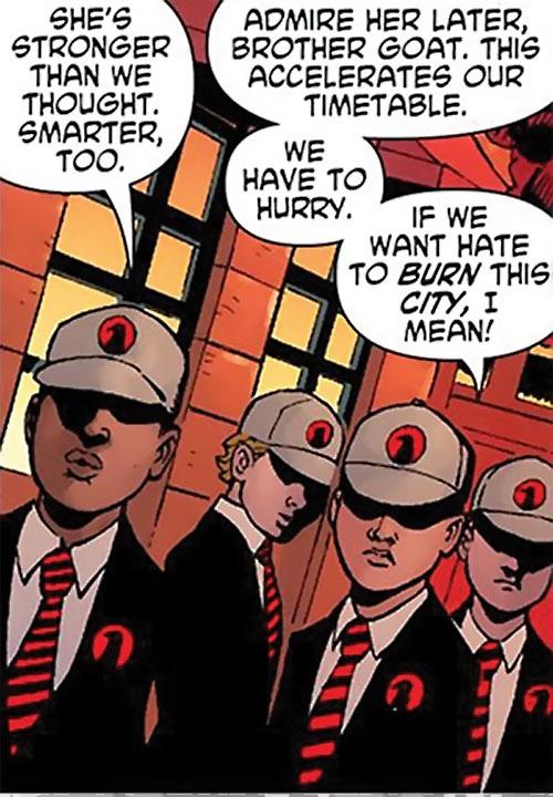 Crow Children of Ares (Wonder Woman enemies) (DC Comics) conferring