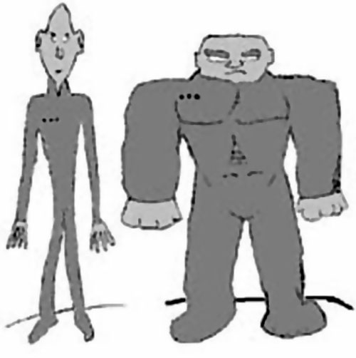 Crusher (DC Heroes RPG) B&W sketch