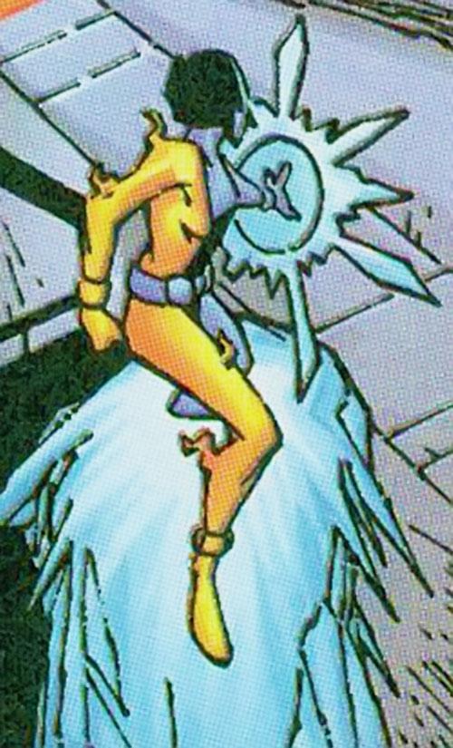 Crux of Cerebro's X-Men (Marvel Comics) on an ice ramp