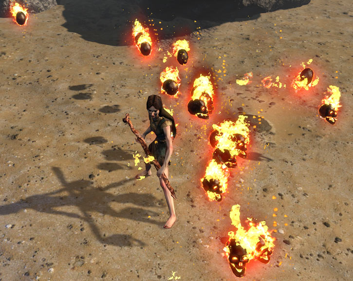 Path of Exile - Summon Raging Spirits - Witch - Staff
