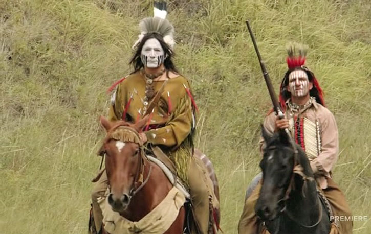Hell on Wheels - natives with painted faces