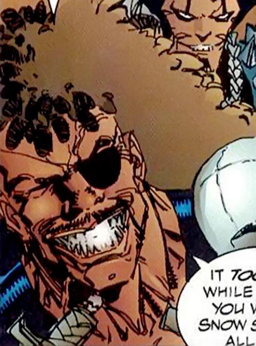 Cutthroat of the Vicious Circle (Savage Dragon comics) face closeup