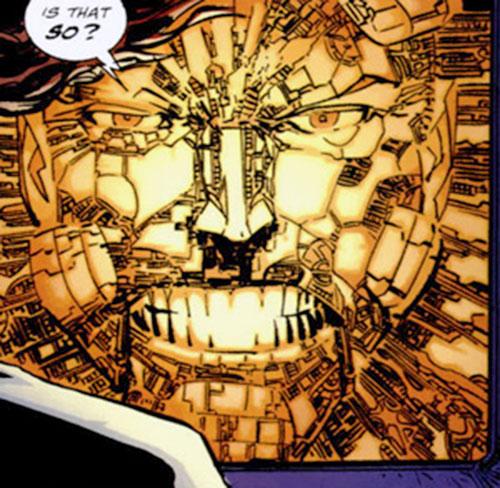 Cyberface (Savage Dragon comics) tech construct face closeup