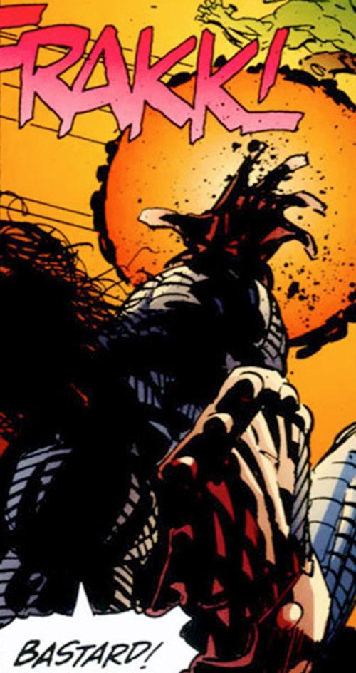Cyberface (Savage Dragon comics) firing an energy blast