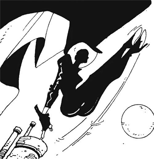 Cybersix - Cyber6 - Argentine comic book - Lithe acrobatics